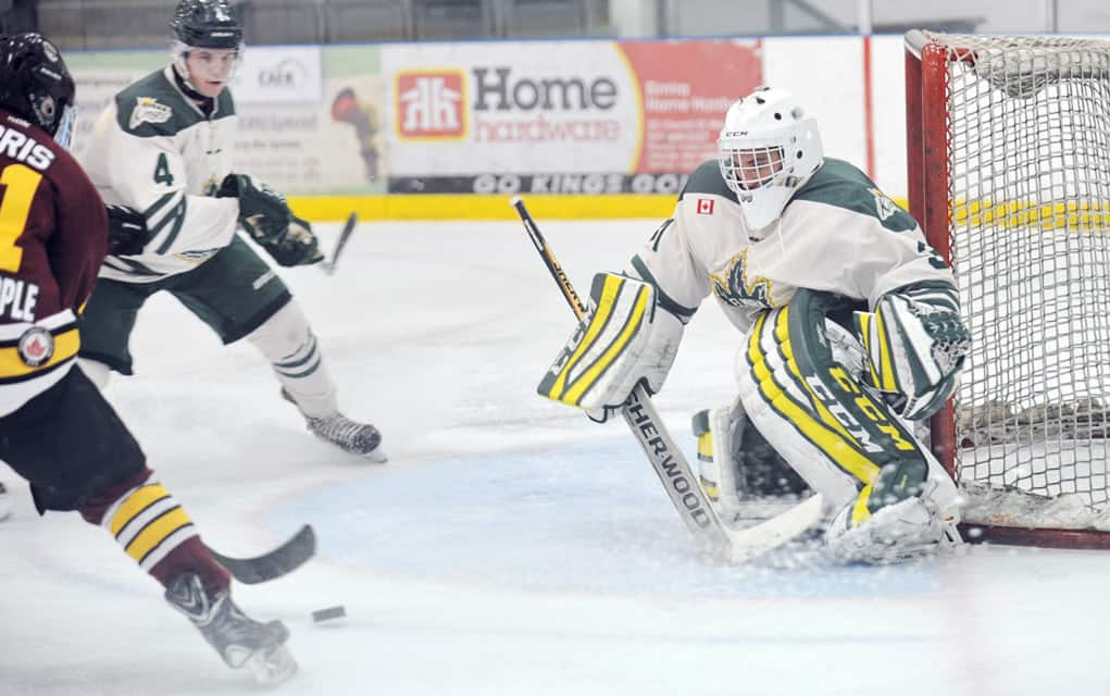 Jonathan Reinhart now needs just one more victory to break the Elmira franchise record of 56 wins.[Liz Bevan / The Observer]