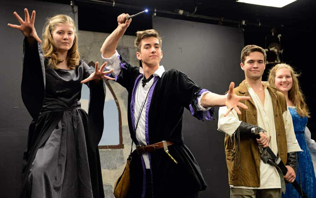 Hadley Mustakas (Morgana), Simon Zenker (Merlin), Garret Tracey (Arthur) and Maddie McCormick (Gwen) will be performing The Magical Adventures of Merlin alongside fellow EDSS cast members during their production Dec. 1-9.