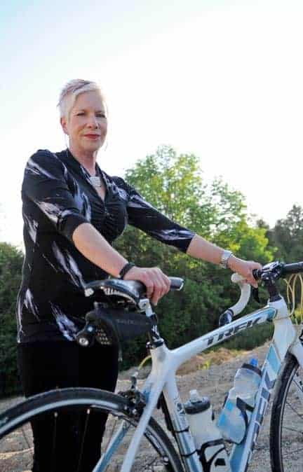 Avid cyclist Heather Caron finds solace by promoting cycling safety. [Submitted]