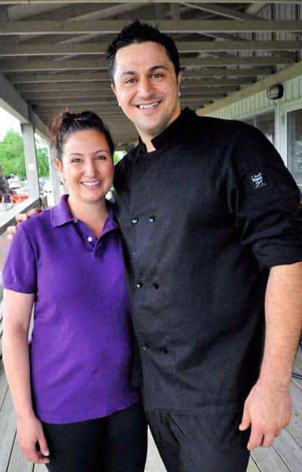 Dina and John Tsintaris own and operate the Grill on the Green restaurant at the Elmira Golf Club. [Scott Barber / The Observer]