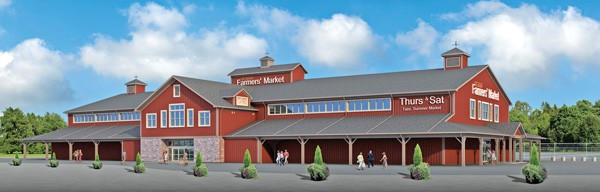 Artist's rendering of the new 34,000-square-foot building at the St. Jacobs Farmers' Market to replace the structure lost in a fire last September. It's expected to be completed by next spring.[Submitted]