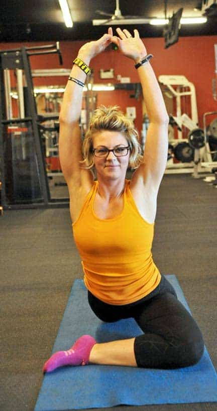 Getting out of her comfort zone, Pam Esbaugh made the jump from factory worker to personal trainer.[Scott Barber / The Observer]