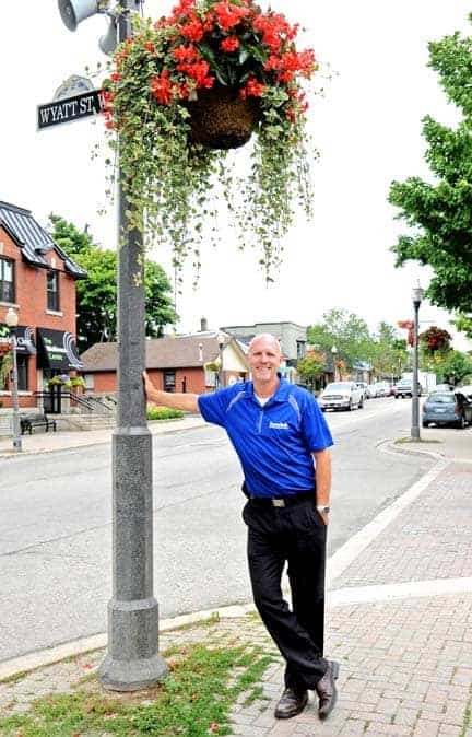 Chad Nicholls is ready to take on his role as BIA chair, with new ideas for events and beautifying downtown Elmira.[Whitney Neilson / The Observer]