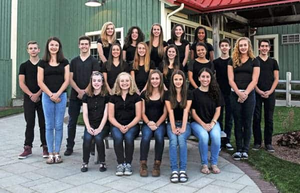 Twenty local dancers, the Footloose Youth Ensemble, join the professional cast in the musical production. Back row: Amber Boswell, Hope Stemmler, Emma Ernst, Jessica Chanyi, Violet Vaughn. Middle row: Dawson Collier, Kaleigh Murphy, Mason Elliott, Taryn Meyer, Amanda Nickless, Kelsi Knowles, Kira Hatashita, Michael Carvalho, Monika Plauszta, Travis Brooks. Front row: Payton Wentzlaff, Celeste Laube, Terese Dimeck, Emma Wolle, Sarah Gomes. The principles include Colin Sheen as Ren and Julia McLellan as Ariel.[Submitted]