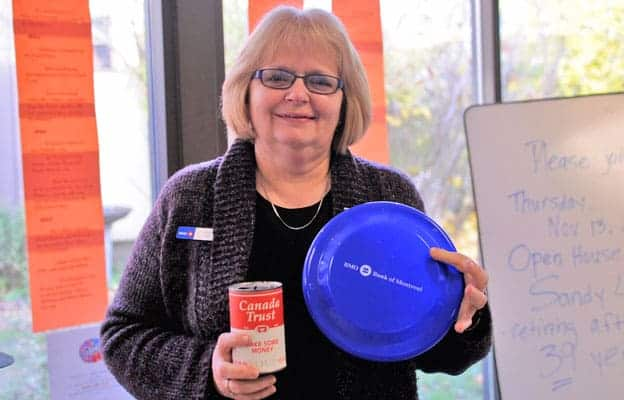 After a 39-year career at Elmira's Bank of Montreal branch, Sandy Ladd retired this week. She plans to spend more time volunteering with the Woolwich Community Lions and working on her to-do list.[Whitney Neilson / The Observer]