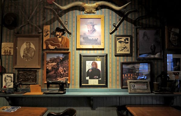 Many of the memorabilia on the walls are old country singers and musicians who've stopped in over the tavern's 160 years.