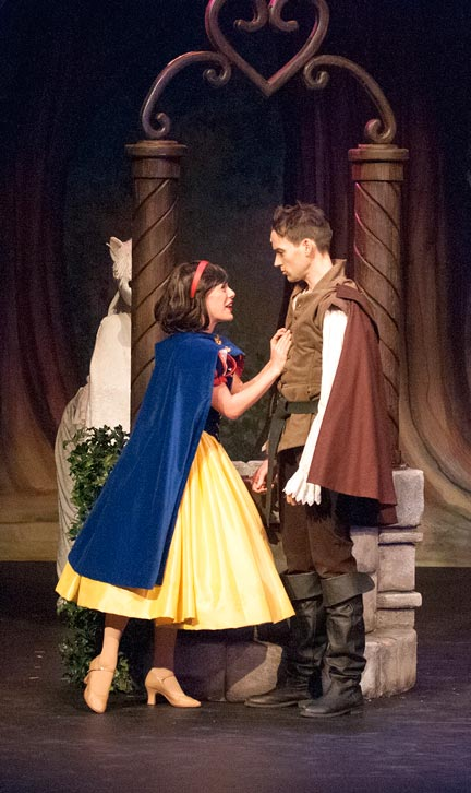 Julia McLellan is the titular heroine and and Jamie McKnight is the Prince in Snow White: The Panto now playing at the St. Jacobs Country Playhouse.[Submitted]