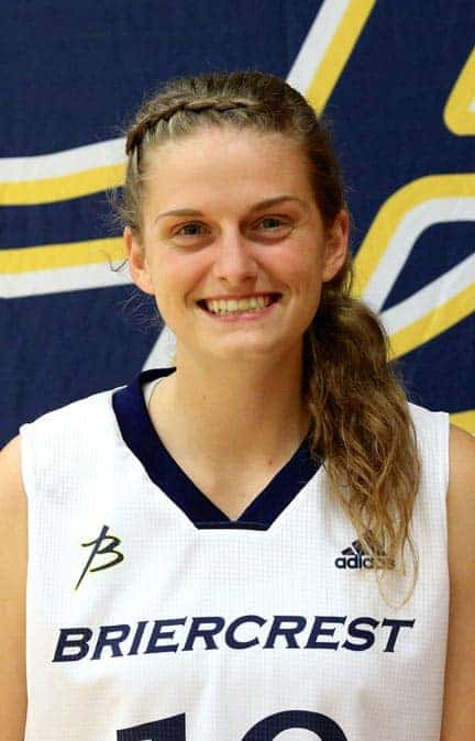 Krista Wiens has switched to the shooting guard position while playing for Briercrest College.[Submitted]