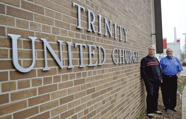 Elmira's Trinity United Church is undergoing a refocusing period along with all United Churches across Canada, something Rev. Dave Jagger and Peter Kupfer see happening every five years.[Whittney Neilson / The Observer]