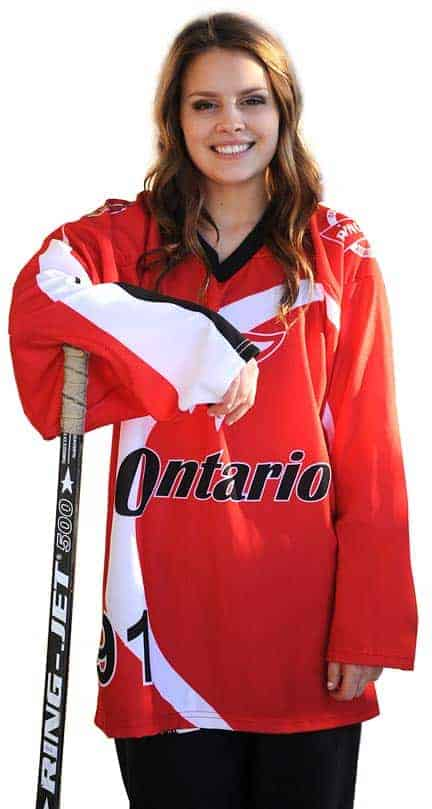Following her family's tradition, Sydney Nosal is heading off to the Canada Winter Games in British Columbia as part of Ontario's ringette team.[Whitney Neilson / The Observer]