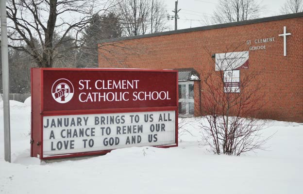 St. Clement Catholic School was saved from the chopping block during the board's accommodation review.[File Photo]