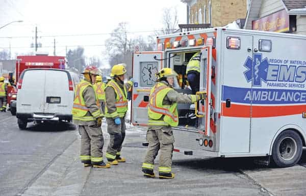 Wellesley Mayor Joe Nowak is worried about ambulance response times to calls such as this accident in St. Clements earlier this month.[File Photo]