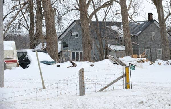 A dog perished in a shed fire at 2995 Manser Rd. near Linwood in the early morning hours of Mar. 2. [Scott Barber / The Observer]