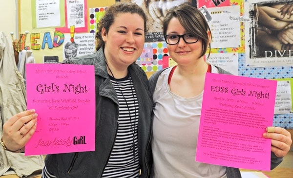 Mikayla Cooper and Brielle Dobes are bringing Kate Whitfield, founder of Fearlessly Girl, to EDSS next week for an inspirational Girls Night for all girls from Grades 8 to 12.[Whitney Neilson / The Observer]