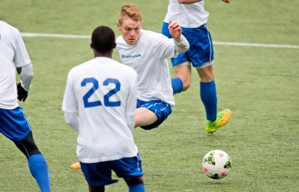 Elmira native Tyler Pasher is now playing in the United Soccer League with the Pittsburgh Riverhounds. [Submitted]