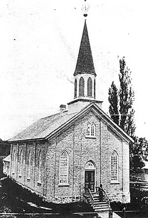 The congregation's second home from 1869-1914 was a white brick church located just south of the existing building on Arthur Street. [Submitted]