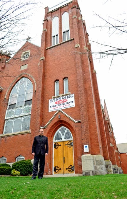 Pastor Hans Borch and the St. James Evangelical Lutheran Church of Elmira will host a celebratory service May 24 at 3 p.m. to commemorate 100 years at their Arthur Street location. [Scott Barber / The Observer]