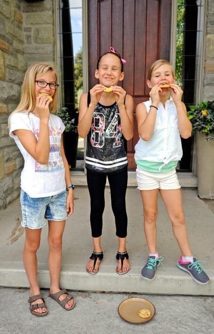 Holly Bromberg, Ella Vrbanac, and Karly Vrbanac put their baking skills to good use last weekend, raising more than $1,000 for the Canadian Cancer Society.[Whitney Neilson / The Observer]