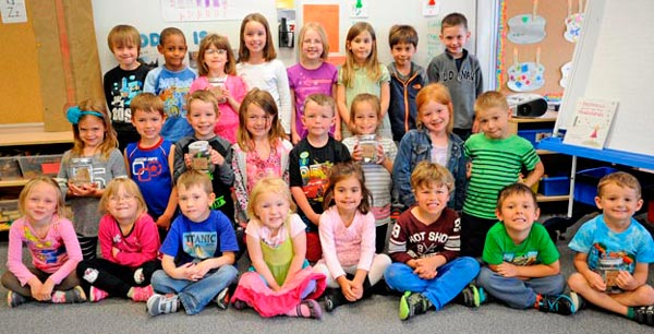 Lisa Heldmann and Sara Sacrey's Kindergarten class at Riverside PS raised $290 for the Canadian Cancer Society through a child-led initiative. [Whitney Neilson / The Observer]