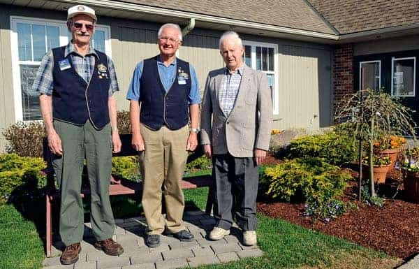 Eugene Read, Tom Hendrick and Lorne Martin were recognized with Ontario Volunteer Service Awards last week for their numerous decades of service to the community through the Elmira Kiwanis Club.[Whitney Neilson / The Observer]