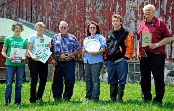 Ontario's first 4-H club, which started in Waterloo, has been busily preparing for its 100th anniversary this Saturday. Some of the people who are part of that history are Helen Martin, Sharon Grose, Clarence Diefenbaker, Susan Martin, Luke Martin and Evan Woods.[Whitney Neilson / The Observer]