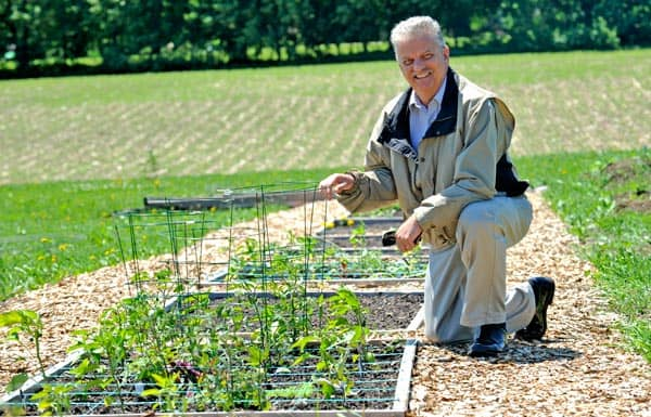 Gil Langerak and the Gale Presbyterian Church launched a new community garden this spring at their Elmira location on Barnswallow Drive.[Scott Barber / The Observer]