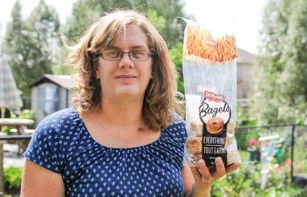 Cheryl Noordam is avoiding Canada Bread products after finding an open staple in a Dempsters bagel. [Whitney Neilson / The Observer]