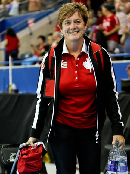 Sheila Forler Bauman's role as lead physiotherapist with the women's wheelchair basketball team led her to the Parapan Am Games once again, where the players won silver.[Submitted]