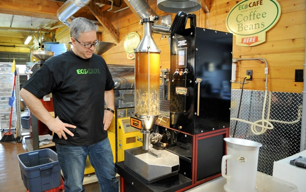 Edward Denyer's excited to offer free coffee in Woolwich Township as part of Random Act of Kindness Day on Nov. 6. Eco-Café Roastery opened in St. Jacobs on Sept. 1 and will include a coffee bar before December.[Whitney Neilson / The Observer]