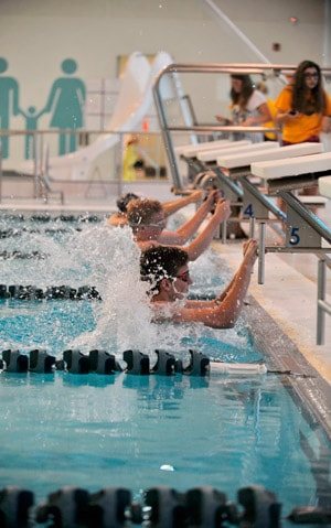 EDSS hosted their first two swim meets at the Woolwich Memorial Centre pool, and coach Pam Germann says swimmers are already making new personal bests.[Liz Bevan / The Observer]
