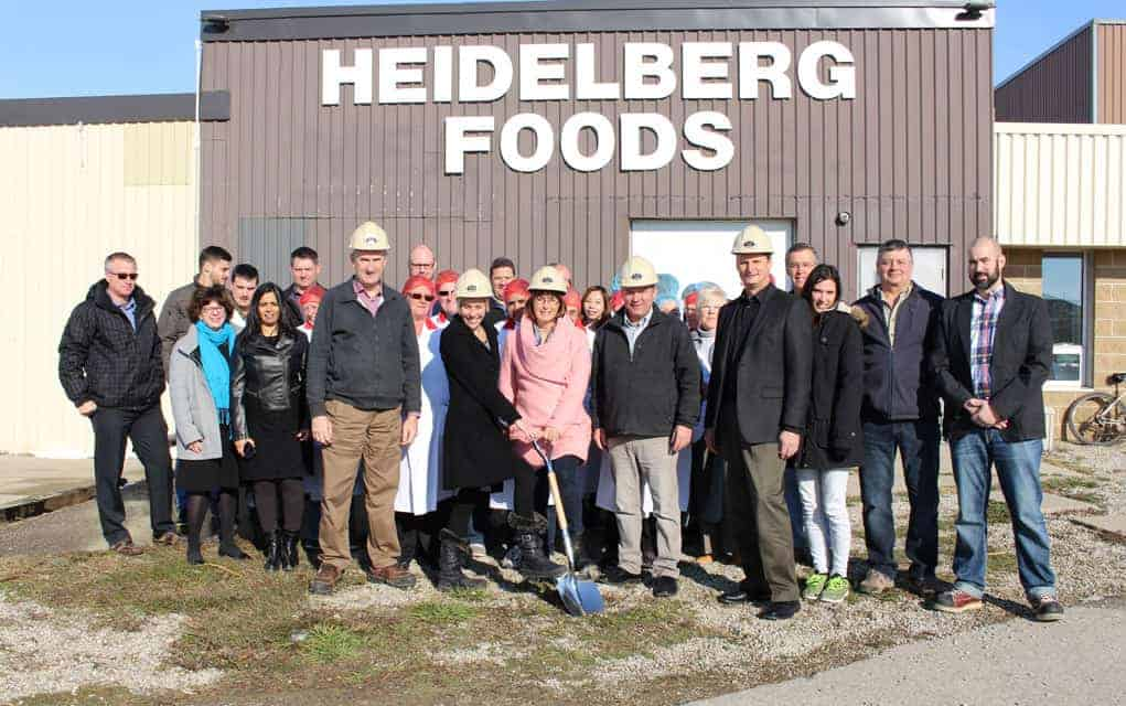 Heidelberg Foods breaks ground on expansion of St. Jacobs plant