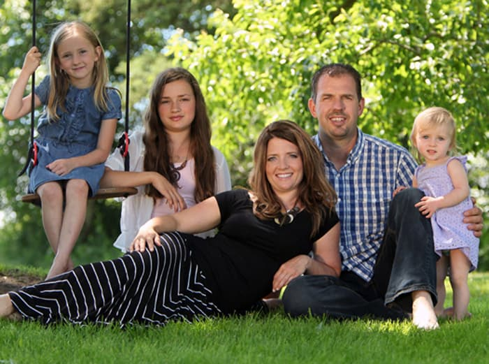 AmyBeth and Colin say homeschooling their daughters Stella, Zoe, and Mercedes gives them the flexibility to tend to the farm, while also providing a well-rounded education