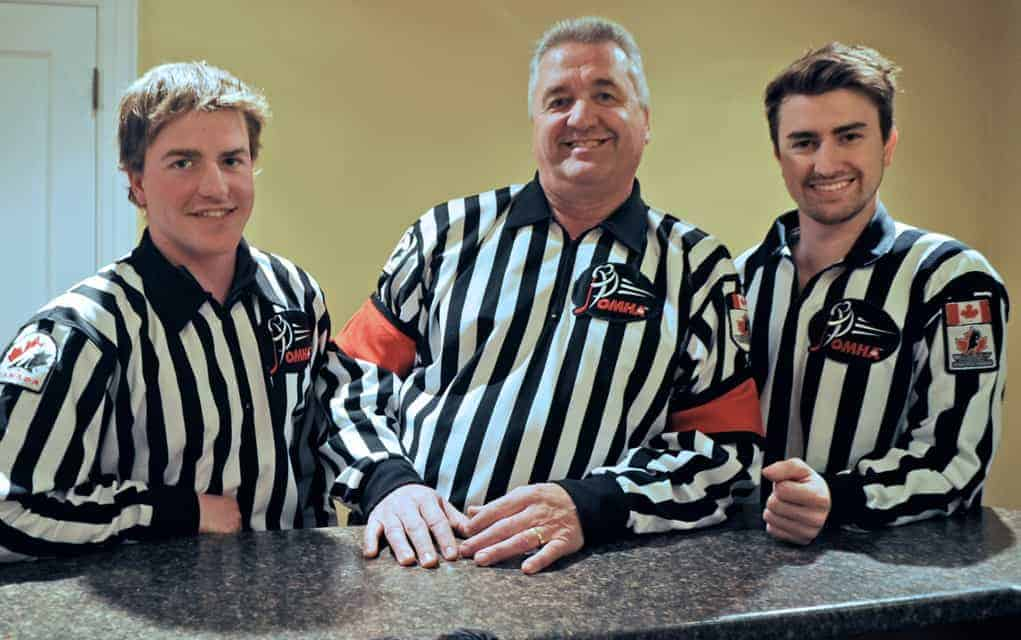 Refereeing is a real family affair
