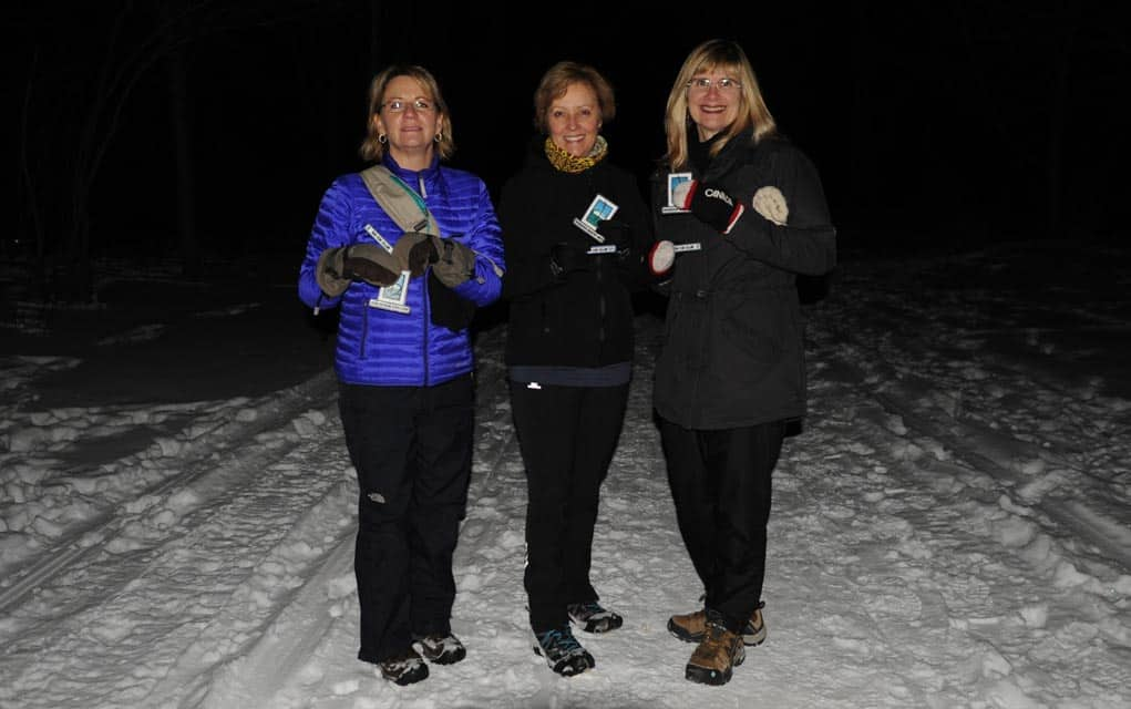 Woolwich trails group hosts first night hike, presents badges