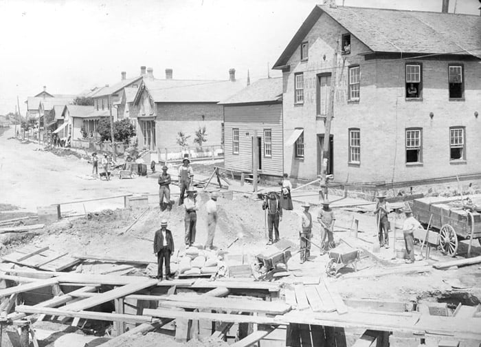 Photographs of Wellesley taken by Charles Ottmann Jr. in the early 1900s show many rarely-before viewed scenes, like the building of a bridge in Wallenstein and construction on what is now Nafziger Road. They're on display at the Wellesley Township Heritage and Historical Society's Historical Room, which is open on Family Day.[Submitted]
