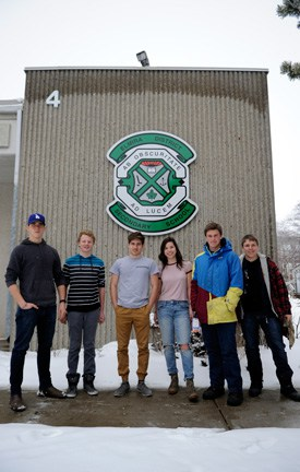 The EDSS alpine ski team has grown by two members since last season and will compete in the Central Western Ontario Secondary Schools Association meet on Feb. 18 at Beaver Valley, having already competed in WCSSAA. Team members are Michael DeVries, Jaron Bauman, Markus Krepstakies, Emily Yeung, Ben Schott, Owen Lucier, Irian Fast-Sittler and Liam Hanley.[Whitney Neilson / The Observer]