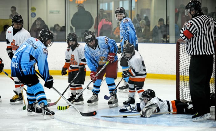 The Woolwich Sun Rays hosted the Kitchener Ice Pirates at the WMC last weekend for the Sun Rays' first home game of the season.[Whitney Neilson / The Observer]