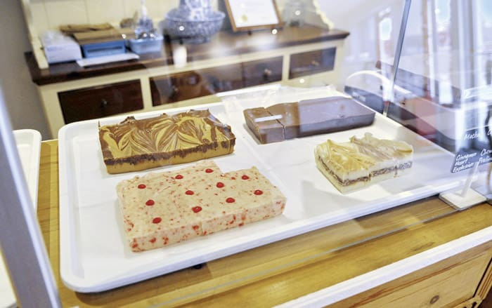 She gets her fudge from a Mennonite family in Varney and rotates the flavors to keep things interesting.[Whitney Neilson / The Observer]