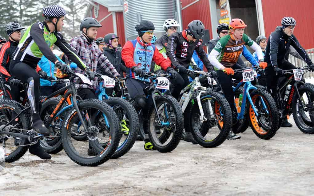Cold and snow no impediment to this fat bike race