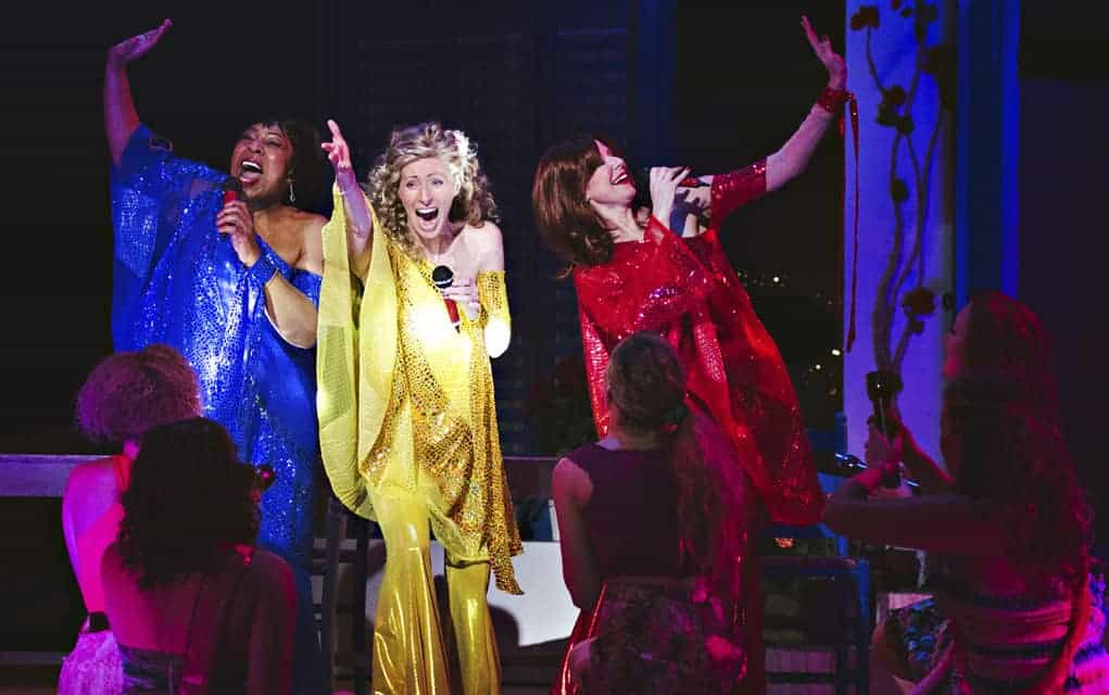 Blythe Wilson takes centre stage as Donna in Drayton Entertainment's production of Mamma Mia! along with Jackie Mustakas and Jenni Burke as Donna's best friends, and backup singers, Tanya and Rosie.[submitted]