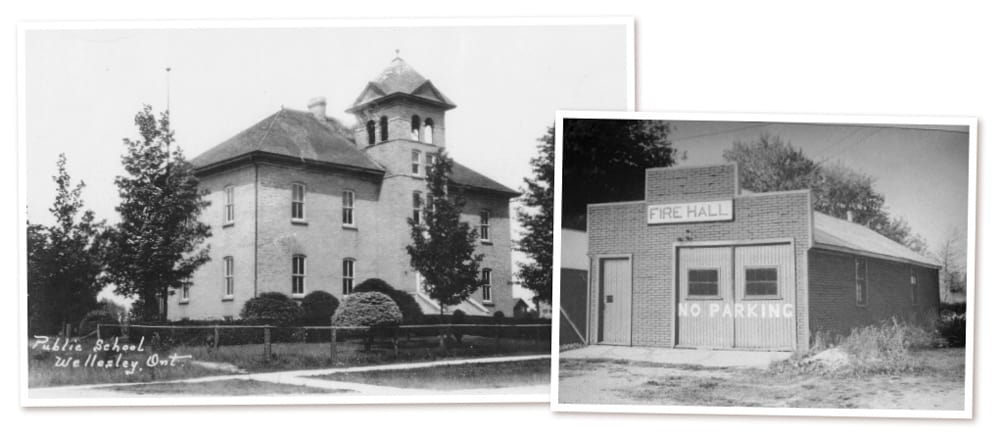 Some 220 pre-1951 structures make up the new Waterloo Region Public Building Inventory, including as seen here, the Wellesley School, 1137 Henry St., and the former Linwood fire hall, 5159-B Ament Line.[Submitted]