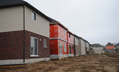 Lots of growth in Woolwich, including this Lunor subdivision in Elmira, gave Woolwich Township a healthy development charges reserve fund last year, according to the 2015 development charges report presented to council on Tuesday night.[Whitney Neilson / The Observer]