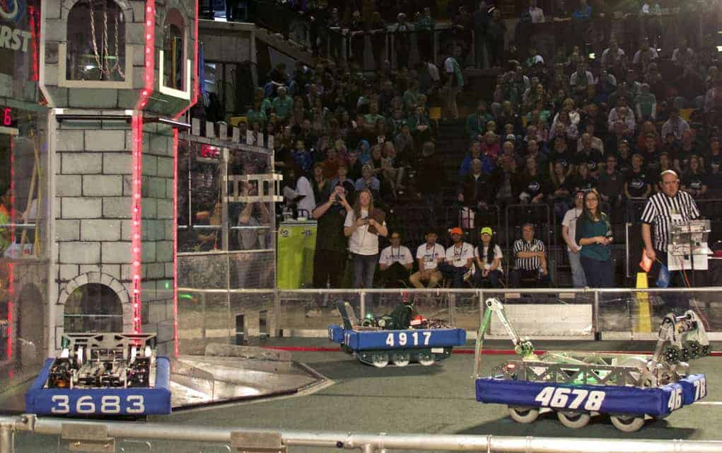 Robotics competition allows high school teams to face off against their peers