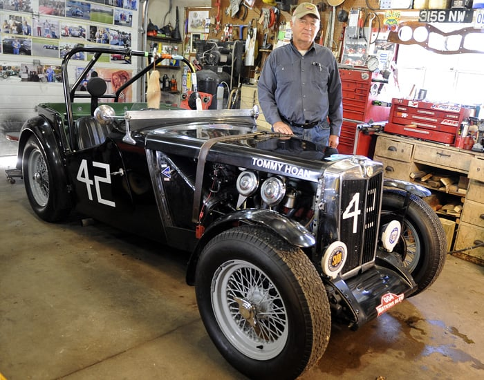 Elmira's David Holmes is heading to Watkins Glen International next week for its opening weekend after being invited to show off his 1949 MG TC, which was raced in the '50s by Canadian legend Tommy Hoan. Holmes owns four race cars and five vintage street cars, which he brings out to drive and race as weather permits.[Whitney Neilson / The Observer]
