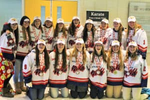 The Midget BB Woolwich Wild team was all smiles after taking the gold at the OWHA provincial championship on the weekend. [submitted]