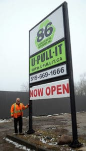 Frank Rattasid hopes 86 Auto and Metal Recyclers and U-Pull-It Elmira will be well used by the community for recycling scrap metal and pulling parts for their vehicles.[Whitney Neilson / The Observer]