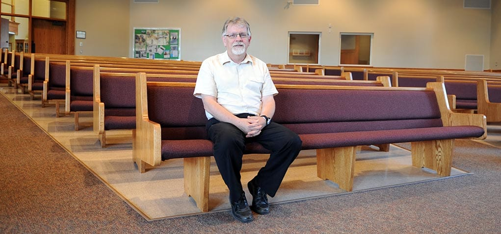 This will be Fred Redekop's last summer behind the pulpit at Floradale Mennonite Church, as he's retiring in August after 25 years.[Whitney Neilson / The Observer]