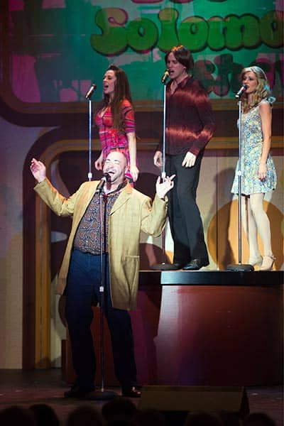 Lee Seigel, Gerrad Everard, Michel LaFleche and Michael Clarke sing the tunes of a time gone by in Drayton Entertainment's Legends...Of Rock n' Roll at the Dunfield Theatre in Cambridge.[Submitted]