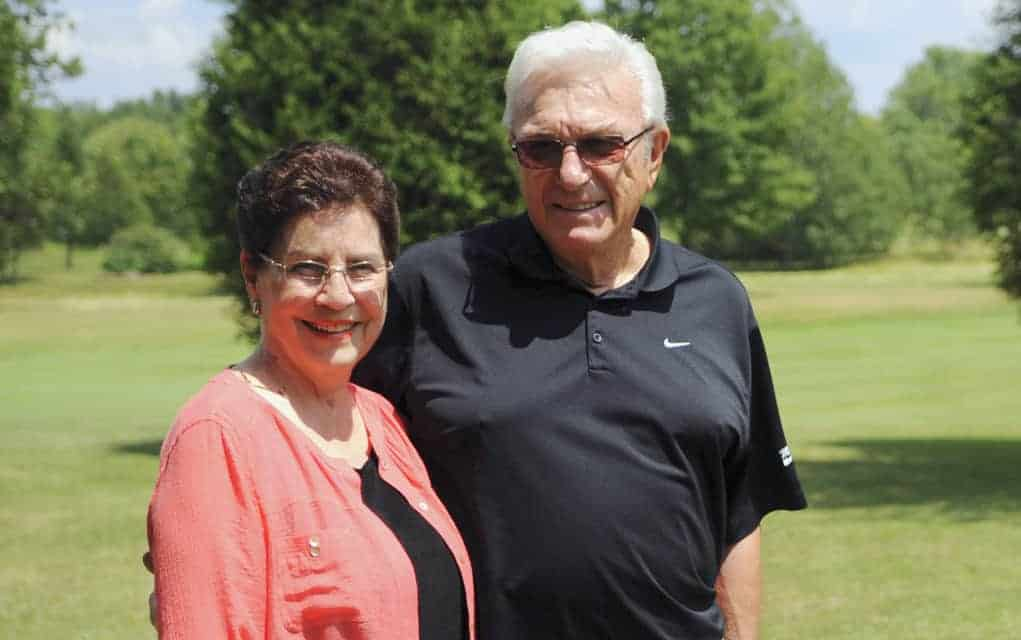 Well known golf aficionados, Gus and Audrey Maue honoured for their longtime support of Crime Stoppers