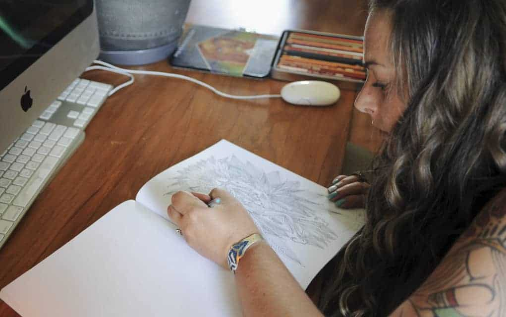 St. Jacobs artist Angela Werstine has published her first in a series of adult colouring books, entitled Simply Complicated.